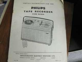 phillips el3514 reel to reel service manual |