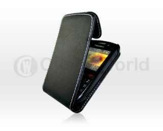 BLACK/WHITE KNIT LEATHER CASE FOR BLACKBERRY 9300 CURVE