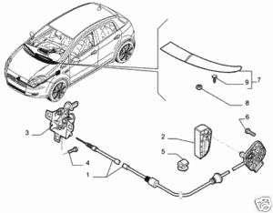 FIAT GRANDE PUNTO BONNET RELEASE LEVER BRAND NEW