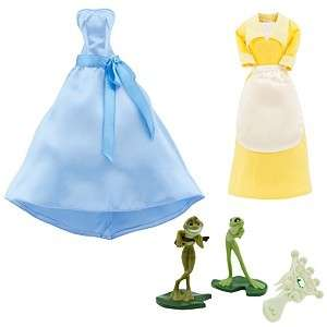 Disney Barbie Princess Tiana Wardrobe Set Doll 5pcs