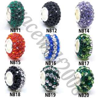 9pcs Austria CZ Silver Core Spacer Charms Beads loose beads Gemstone