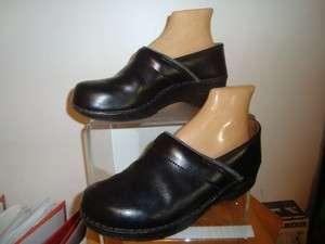 Dansko Mens Black Leather Slip On Shoes Size 41