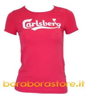 shirt maglietta donna Carlsberg cbd003 tg.M fucsia