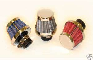 9mm Mini Moto Air filter K&N Oil Cone Breather Red