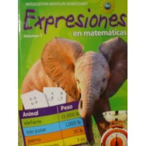 Math Expression, Grade 3 Activity Book: Houghton Mifflin Harcourt