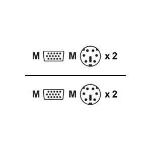 15ft PS2 SVGA KVM Cable Kit Pc Serverswitch Plus To PS2 Pc