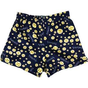MJ Soffe Novelty Soffe Short Girls   Fastpitch Print Small