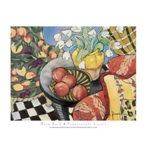 Pomegranate Season Art Poster Print by Mary Mark, 28x22