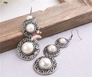 Gk4381 New Fashion Jewelry Antique Silver Pearl like Earrings