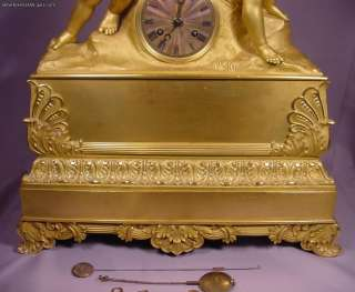 Antique 2 Cherub Circa 1800 Gilt Bronze French Clock