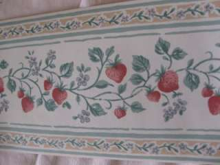 STRAWBERRIES KITCHEN QUALITY WALLPAPER BORDERS BN
