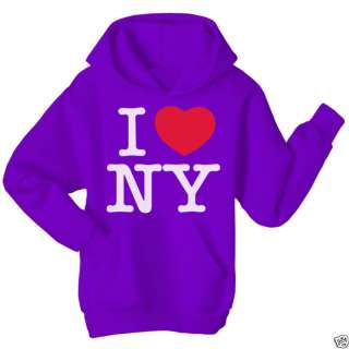 LOVE (heart) NEW YORK Hoodie Top All Sizes Colours