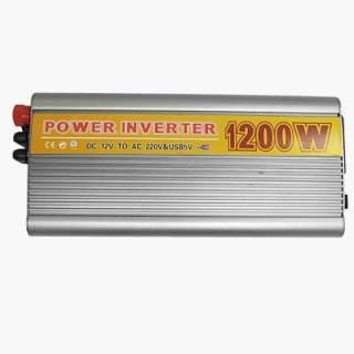 Double Fuses Brand New 1000W Car Power Inverter DC12V to AC 220V 2.0