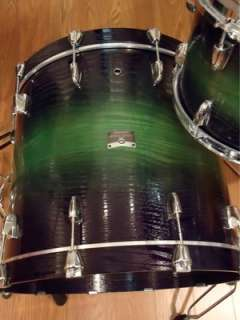 Rock Tour FIVE (5) Piece Drum Set Limited Textured Green Sunburst NEW