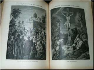 HOLY BIBLE ILLUMINATED LEATHER 1888 KING JAMES GUSTAVE DORE