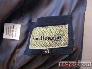 VESTE COURTE BLOUSON MAC DOUGLAS FEMME 38 M EN DAIM BLEU BLUE