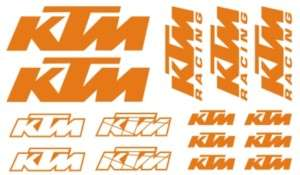 PEGATINA STICKER VINILO KTM kit bicicleta moto racing