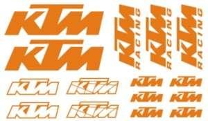 PEGATINA STICKER VINILO KTM kit bicicleta moto racing