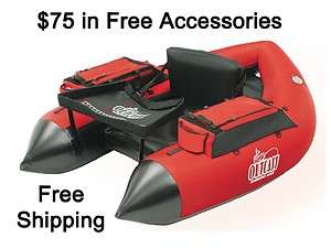 Outcast SUPER FAT CAT   LCS Float Tube, Red Color   Brand New in