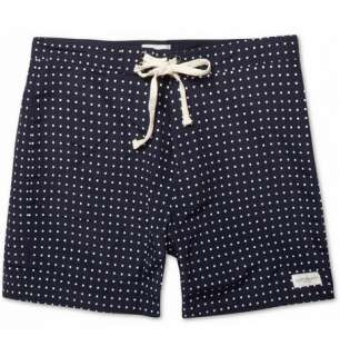 Saturdays Surf NYC Mid Length Polka Dot Twill Swim Shorts  MR PORTER