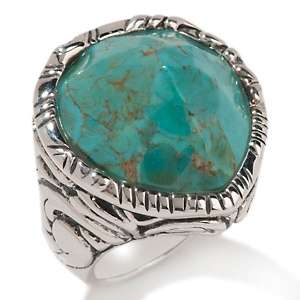 Studio Barse Teardrop Shaped Turquoise Sterling Silver Ring