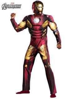 Mens Classic Muscle Avengers Iron Man Mark 7 Costume  Cheap Cartoon