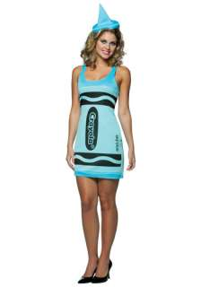 Sexy Sky Blue Crayon Dress   Womens Crayon Halloween Costumes