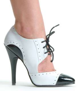 Black and White Gangster Shoes   Gangster Costume Accessories