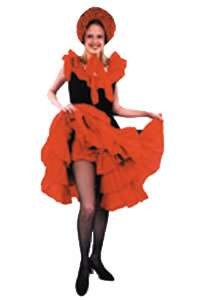 Can Can Dress Adult Costume Size 12   Adult Costumes