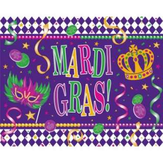 Mardi Gras Paper Tablecover   Costumes, 26455