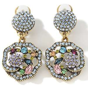 Heidi Daus Byzantine Beauty Crystal Drop Earrings