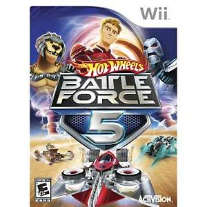 Hot Wheels Battle Force 5 Video Game   Nintendo Wii