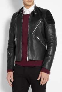 Acne  Black Leather Oliver Biker Jacket by Acne