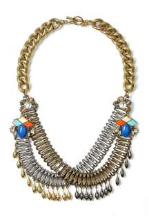 Anton Heunis  Double Chain Drop Necklace by Anton Heunis