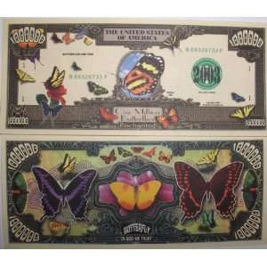 Set of 10 Bills Butterfly Million Dollar Bill Toys & Games