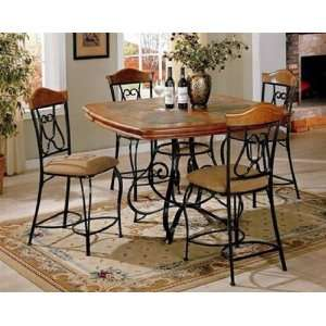 Antique Style Slate Top Dining Set Furniture & Decor