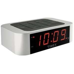 Alarm Clock Led Display Dimmer Control Button Reset Keypad Silver