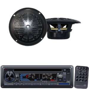 Pyle Marine Radio Receiver and Speaker Package   PLCD33MR AM/FM MPX IN