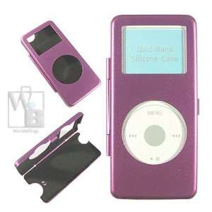 Lux Apple iPod Nano Aluminum Accessory Case   Purple