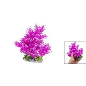 Como Purple Pink Plastic Aquarium Plant Fish Tank Grass