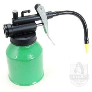 Metal Oil Can  Flex Spout   Thumb Pump   6.3oz Patio, Lawn & Garden