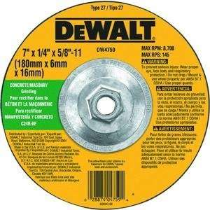 Black & Decker/DWLT DW4753 Metal Depressed Center Grind Wheel
