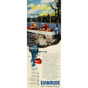 1953 Ad Milwaukee Evinrude Outboard Boat Motor Models