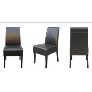 CHY 005 J001   Dark Brown Full Leather Dining Chair (Set