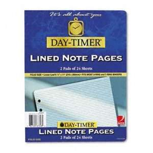 Day Timer® Lined Notes for Organizer REFILL,LND PGS8.5X11