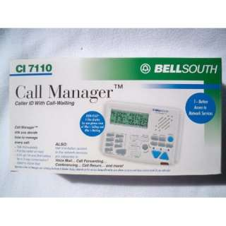 Bell South Caller ID Call manager CI 7110: Electronics
