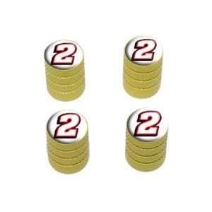 Number two   Tire Rim Wheel Valve Stem Caps   Yellow Automotive