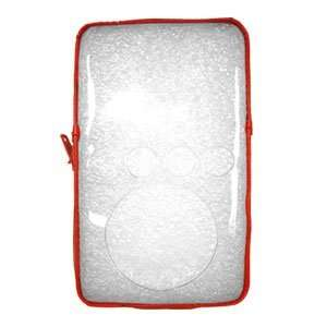 New Transparent Zipper Case Siren Red For Ipod 3Rd Gen