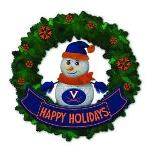 Calivers Lighted Snowman Artificial Christmas Wreath