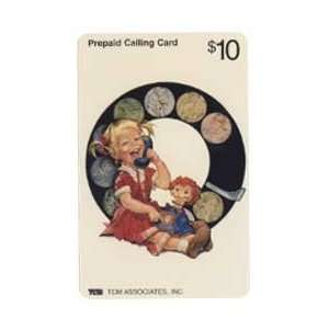 Collectible Phone Card $10 Artistic Little Girl In Dress With Doll